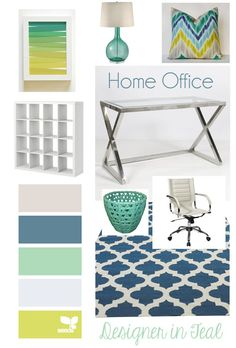 Designer in Teal: Mood Board: Home Office
