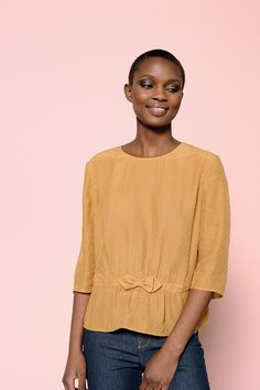 Chemise valmy ocre - chemise - des petits hauts 1