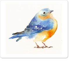 Easy Watercolor Birds I love these bird paintings in Painting & Drawing, Watercolor Paintings, Watercolors, Bird Paintings, Watercolor Trees, Indian Paintings, Watercolor Portraits, Watercolor Landscape, Abstract Paintings
