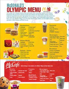 McDonald's 2012 Olympic Menu at London Olympic Venue restaurants (by McDonaldsCorp, via Flickr)