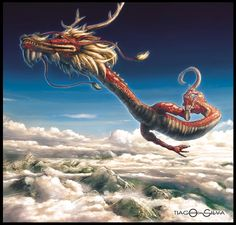 Ao Shun- Chinese myth: the dragon king of the north sea. he can take human form.