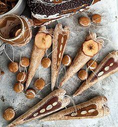 Lucina / Srdiečka škoricovo-mandľovo -maľované a oriešky, sada