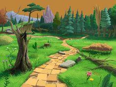 paisajes de bosque para imprimir
