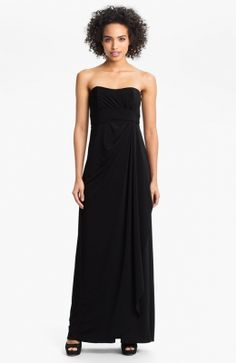 Amsale Strapless Draped Jersey Gown available at Strapless Sweetheart Neckline, Strapless Dress Formal, Evening Dresses, Prom Dresses, Formal Dresses, Cheap Summer Dresses, One Piece Dress, Cute Outfits, Fancy