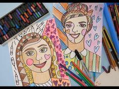 In the Art Room: Romero Britto Inspired Self Portraits | Cassie Stephens | Bloglovin'