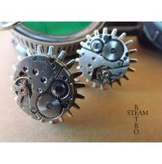 Steampunk Gearwheel Cufflinks Steamretro