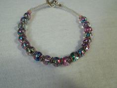 Colorful Splatter beaded Bracelet by BackyardBeader on Etsy, $15.00