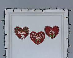 Set Of Heart Christmas Wall Stickers - christmas home accessories £15