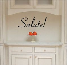 CLEARANCE Salute Health/Wellbeing Italian phrase by VinylLettering, $4.92