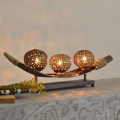 Sureste de coco natural de madera decorativa artes creativas sala modelo de lámpara de mesa lámpara de noche dormitorio(China (Mainland))