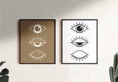 Line Drawing Eye Art Print Set 2 Print, Minimal Line Art Eye Poster,Minimalist Eye Wall Art,Black and White Line Art Eyes,Eyelash Poster Face Line Drawing, Alphabet Print, Black And White Lines, Eye Art, Large Wall Art, Printable Wall Art, Minimalist, Art Prints, Eyes