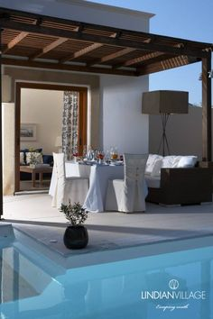 Chilled champagne and a feast of flavors and aromas await you! Dining in your private shelter in Rhodes, an experience not to be missed! More at lindianvillage.gr