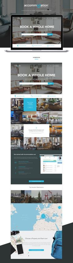 Accommodation.net travel booking redisgn. Nice palette and images. Creates a luxury but accesible feel to it. Blue is a color almost all appeal to so great choice! Simple fonts to make it casual and accessible. Great choice!