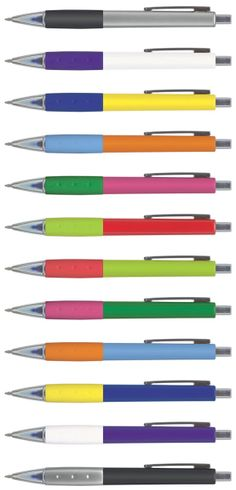 Ace Mix 'n Match pen (PT105585) Choose your barrel colour and the colour of the rubber grip. Retractable plastic ball pen with a soft touch lacquered grip. Can be mixed and matched into 144 colour combinations. Choose ink colour too: Blue, Black or Red ink with 2000 metres of writing ink. Blue or Black gel ink refills (400 metres of writing ink) are available for an additional charge. Imprint in full colour. Instant online quotations -- http://www.pensonline.nz/product/pt894414/