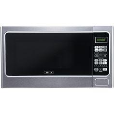 Bella - 1.1 Cu. Ft. Mid-Size Microwave - Platinum (White), 4298
