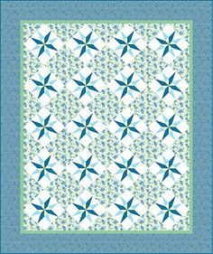 Summer Cottage Quilt Pattern -  FREE to download at Connecting Threads