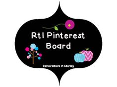 RtI Intervention Board:  tips, ideas, visual lesson plans, materials and resources for RtI