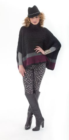 Be fashionably ready for fall with this elegant crochet poncho made in Heartland.