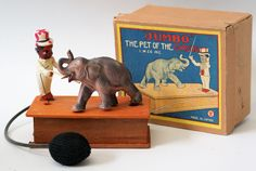 """RARE!!!  Vintage """"Jumbo"""" the Pet of the Circus Celluloid Air-Operated Toy, Japan #LWCo"""