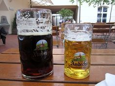 andechs dunkles weissbier at Andechs Monastery, Germany ( i think bobby and I have a very similar picture...lol)