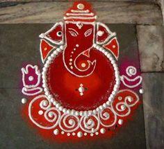Ganpati Diwali Rangoli Design                                                                                                                                                                                 More