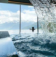 Infinity Pool, Alpin und Relax Hotel DAS GERSTL (Vinschgau, Südtirol) Relax, Hotel Pool, South Tyrol, Like A Local, Alps, Fresh Water, Swimming Pools, Italy, Kaprun