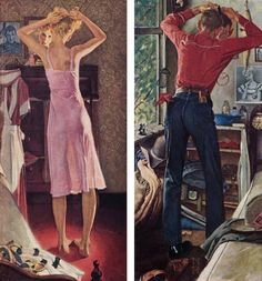 Before the Date - Norman Rockwell --- ironically, this painting is dated September 24, 1949, the day my parents were married!  I bought a copy for them and it hangs in their den!!