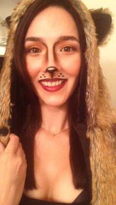 Squirrel Halloween makeup #squirrel #makeup #Halloween