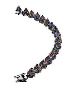 Pave Crystal Cone Bracelet, Multicolor by Eddie Borgo at Neiman Marcus.