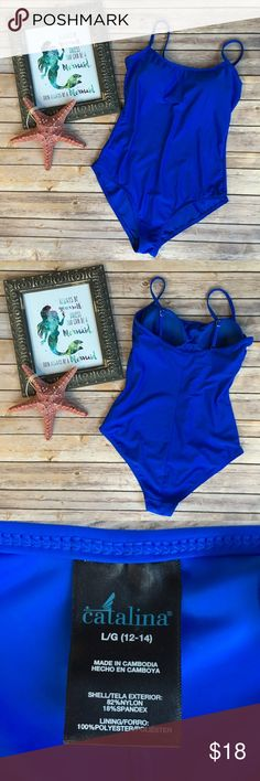 Catalina Royal Blue One Piece Gorgeous royal blue color. Only worn once! Built in bra. Zero picks or pulls. Like new! Catalina Swim One Pieces