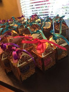 Karla's Arabian Nights themed 15's favors www.sweetanniesbakedgoods.com