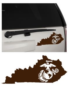United States Marine Corps (USMC) Eagle, Globe and Anchor (EGA) Kentucky (KY) Removable Matte Indoor/Outdoor Vinyl Decal Sticker, MultiPurpose - For Your Auto, Wall, Window and More!  Purchase this product along with all of our other spectacular decals through one of the following links:   https://www.etsy.com/shop/MiaBellaDesignsWI  http://www.amazon.com/s?marketplaceID=ATVPDKIKX0DER&me=A2MSEOIVL689S1&merchant=A2MSEOIVL689S1&redirect=true