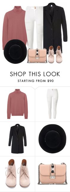"""Untitled #1180"" by terryxx ❤ liked on Polyvore featuring Bottega Veneta, River Island, Léa Peckre, Eugenia Kim and Valentino"