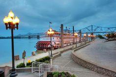 Louisville riverfront wharf