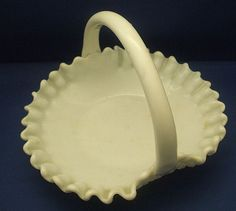 Westmoreland Glass Baskets | Westmoreland English Hobnail Milk Glass Low Basket