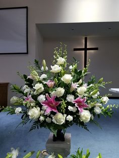 Any Floral design request can be done. Your imagination is the limit! Send us request now for possible discounts that stand! Contemporary Flower Arrangements, Large Flower Arrangements, Funeral Flower Arrangements, Alter Flowers, Church Flowers, Funeral Flowers, Memorial Flowers, Sympathy Flowers, Flower Bouquet Wedding