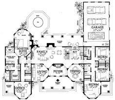 Plan 81384W: Open Courtyard Dream Home Plan