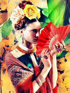 ❀ Flower Maiden Fantasy ❀ beautiful photography of women and flowers - Frida inspired