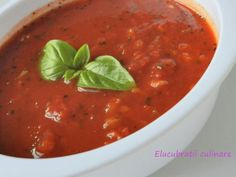 Rețetă Sos marinara, de Elucubratiiculinare - Petitchef Vinaigrette Dressing, Romanian Food, Tasty, Yummy Food, Fusilli, Lasagna, Dips, Food And Drink, Pizza