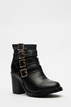 Cut Out Buckle Side Boots - 3 Colours   #Summer #Boots