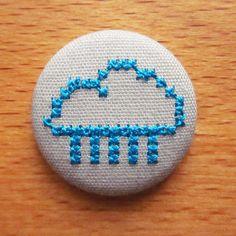 emboideres fabric button cloud from dawanda designer annalyse