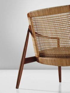 Hartmut Lohmeyer Armchair in Teak and Cane | From a unique collection of antique and modern lounge chairs at https://www.1stdibs.com/furniture/seating/lounge-chairs/