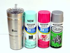 Ombre Spray Painted Glitter Cold Cup