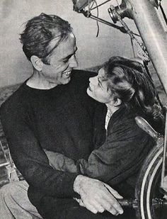 Humphrey Bogart and Lauren Bacall on their boat, the Sluggy.
