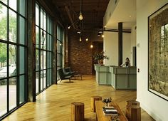 Textile Factory Converted into 8 Story Wythe Hotel in Brooklyn // New York