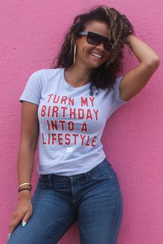 Turn your Birthday into a LIFESTYLE! With this hot Birthday Shirt Your Birthday Outfit is Waiting! Get Yours Now -> birthdaygirlworld.com/BdayOutfit