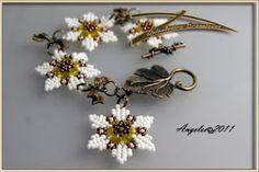 Seis Puntas Blanca. Bracelet and free pattern by Quienlodira http://quienlodiracreaciones.blogspot.com.es/ #quienlodiraesquemas #quienlodira
