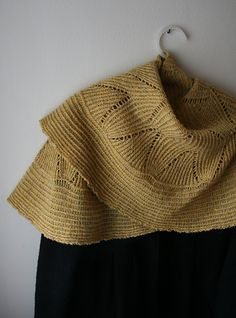 Ravelry: gussie's winnowing shawl - This is the wedding shawl I made using different yarn.  This is beautiful.