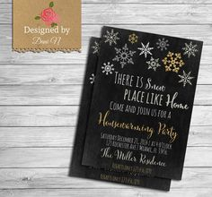Holiday housewarming invitation winter new house party home sweet home Christmas housewarming New home silver gold chalkboard invite by DesignedbyDaniN from Designed by Danin. Find it now at http://ift.tt/2e60u8X!