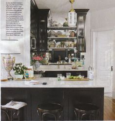 Summer Thornton designed kitchen.  luxe + lillies: SMALL SPACE DELIGHT
